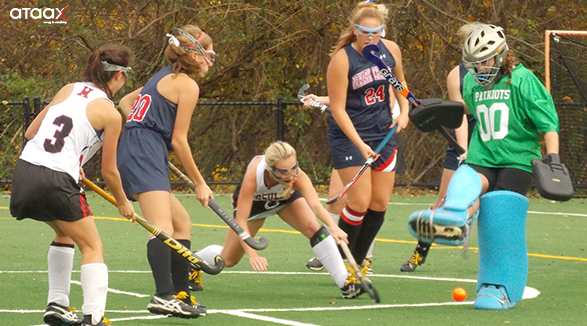 passing the ball in field hockey